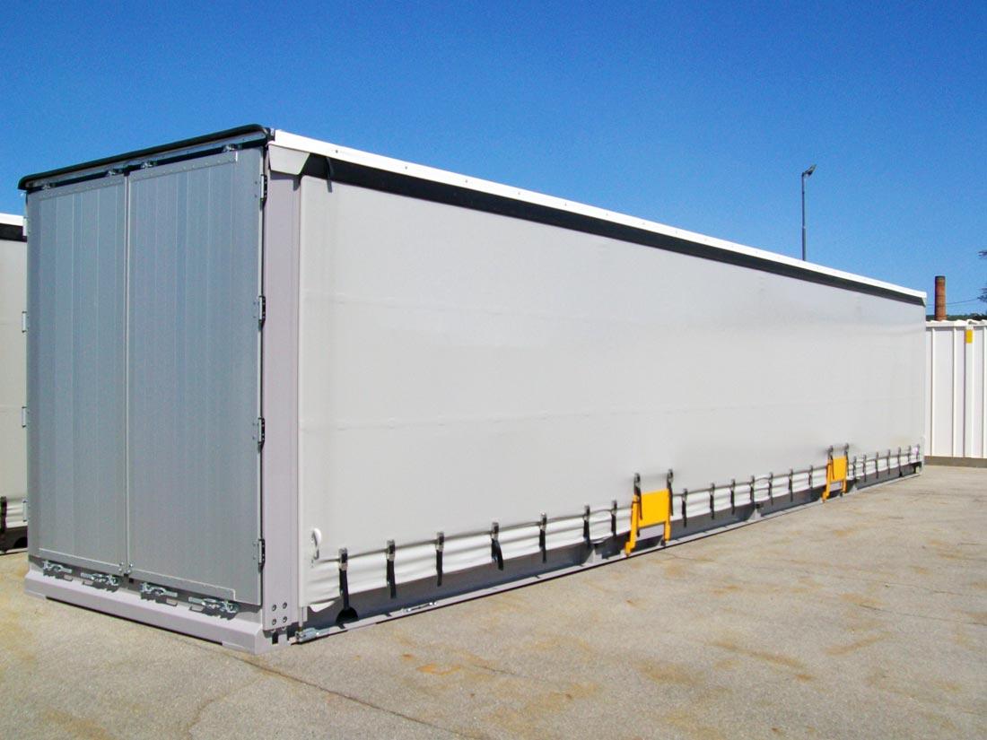 13 60 M 45ft Steel Van Curtain Side Swap Body Sicom